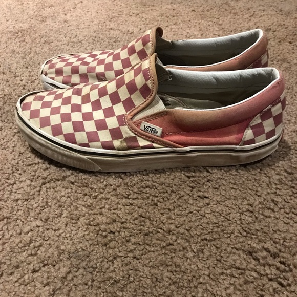 Vans Shoes   Checkered Vans Faded Rose